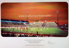 Bradford City v Liverpool 1980 League Cup at Valley Parade A3 Framed Print